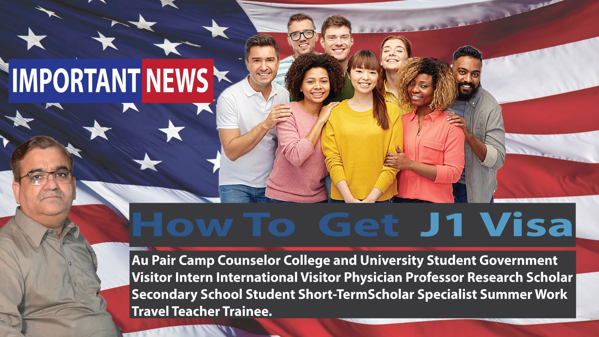 How to Get USA J1 Visa| USA Youth Exchange Program Visa|